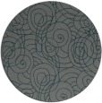 rug #258249 | round blue-green natural rug