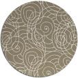 rug #258261 | round mid-brown natural rug