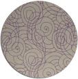 rug #258301   round purple circles rug