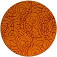 rug #258309 | round orange circles rug