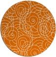 rug #258313   round orange circles rug
