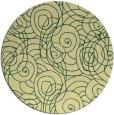 rug #258325 | round yellow circles rug