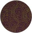 rug #258349   round purple circles rug