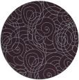 rug #258357 | round purple natural rug