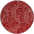 rug #258369 | round red circles rug