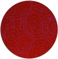 rug #258373 | round red natural rug