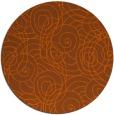 rug #258385 | round red-orange circles rug