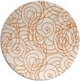 rug #258389 | round red-orange circles rug