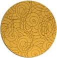 rug #258425 | round yellow circles rug