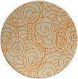 rug #258437 | round beige rug