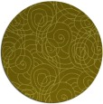rug #258441 | round light-green natural rug