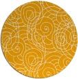 rug #258457 | round light-orange popular rug