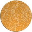 rug #258469   round light-orange circles rug