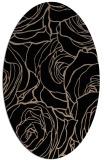 rug #259189 | oval beige natural rug