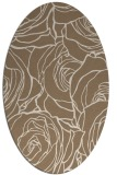 rug #259329 | oval mid-brown natural rug