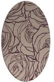 rug #259333 | oval pink natural rug