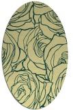 rug #259381 | oval yellow natural rug