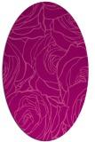 rug #259385 | oval pink natural rug