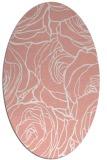 rug #259397 | oval white popular rug