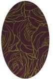 rug #259405 | oval purple rug