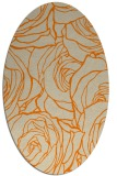 rug #259493 | oval orange natural rug