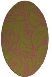 rug #259505 | oval light-green rug