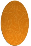 rug #259521 | oval light-orange natural rug