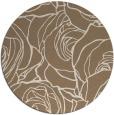 rug #260033 | round mid-brown natural rug