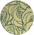 rug #260085   round yellow natural rug