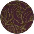 rug #260109 | round green rug