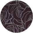 rug #260117   round purple natural rug