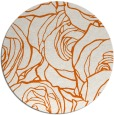 rug #260149 | round red-orange natural rug