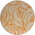 rug #260197 | round orange rug