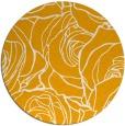 rug #260217 | round light-orange rug