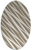 rug #266217 | oval white stripes rug