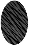 rug #266225   oval black rug