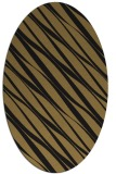 rug #266237 | oval brown stripes rug