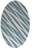 rug #266241 | oval white stripes rug