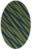 rug #266253 | oval blue rug
