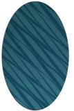 rug #266265 | oval blue-green popular rug