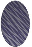 rug #266305 | oval blue-violet stripes rug