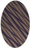 rug #266325   oval blue-violet stripes rug