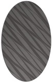 rug #266365 | oval brown stripes rug