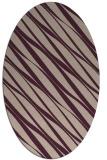 rug #266378 | oval stripes rug