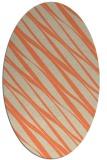 rug #266413 | oval orange stripes rug