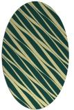 rug #266421 | oval yellow stripes rug