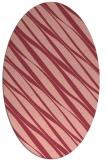 rug #266433   oval pink rug