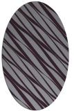rug #266453 | oval purple stripes rug