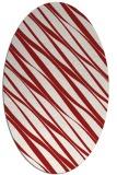 rug #266465 | oval red rug