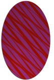 rug #266469 | oval red stripes rug